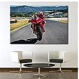 A&D Motorrad Ducati Sport Bike Bild Wandkunst Poster Leinwand Tuch Drucke Dekorative gemälde Für Room Decor-60x80 cm Kein Rahmen