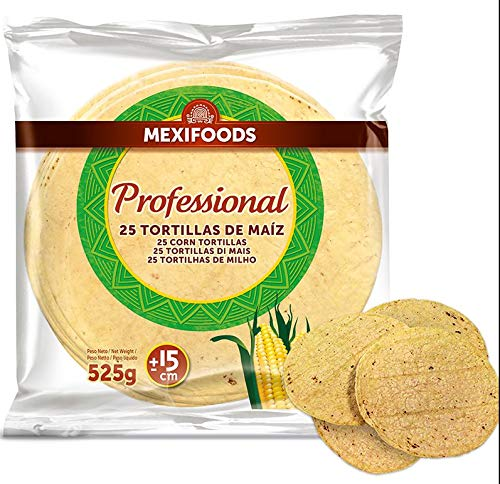 Tortillas mais nixtamal 15cm confezione da 25 pezzi