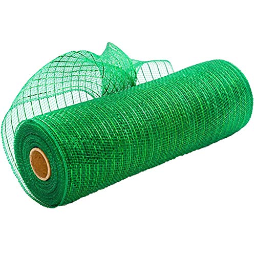 Gaoqi Poly Mesh Ribbon with Metallic Foil Each Roll for Wreaths Swags Bows Wrapping and Decorating, Home DIY Easter and Eid Onsale
