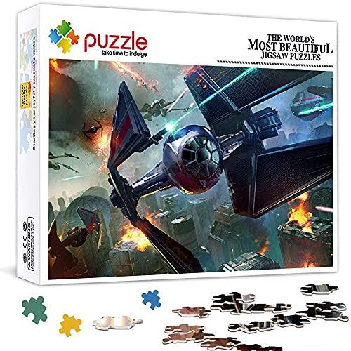 Puzzle 1000 Piezas para Adultos Star Wars Starfighter Nave Espacial X Wing NiñOs Educativo Pieces Arte CartóN 38X26 CM CláSicos Juego De Rompecabezas Adolescentes Infantil Toda La Familiar
