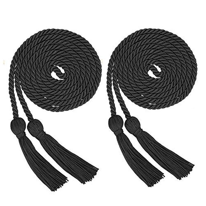 ECONIE Graduation Honor Cords Polyester Yarn Graduation Tassel Accessory for High School College Graduation Bachelor Gown (Black)