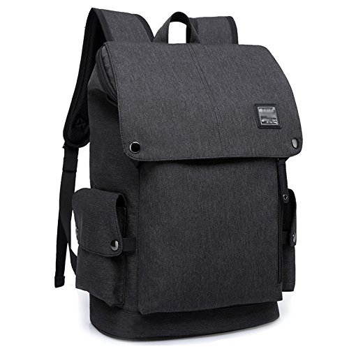 Notebook Backpack Travel Laptop Backpacks Waterproof Lightweight Rucksack 20Inch For Mens Womens Business School College Bags,Black-20Inch