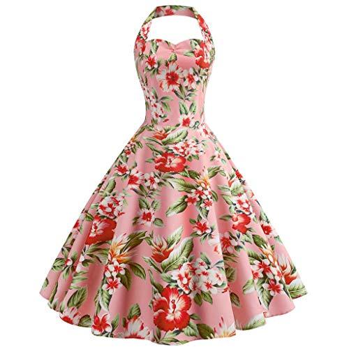 Janly Vestido de Boda para Mujer, Casual, Elegante, impresión Digital, Falda Grande,...
