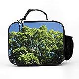 Bolsa isotérmica con diseño de árbol verde, bolsa para el almuerzo, bolsa de pícnic, bolsa térmica impermeable, bolsa para el almuerzo para el trabajo, la escuela, color blanco, talla única