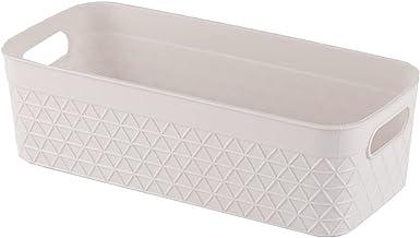 Storage Bin Organizer with Handle | Stationery Organizer | Desk Drawer Organizer, 1.3 Liter, Set of 6