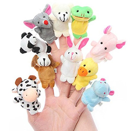House of Quirk Animal Finger Puppets – set of10