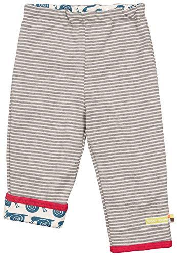 loud + proud Baby-Unisex Wendehose aus Bio Baumwolle, GOTS Zertifiziert Hose, Grau (Grey Gr), (Herstellergröße: 86/92)