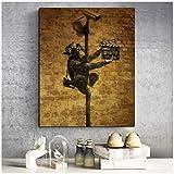 Banksy AFFE Kunst Tapete Kunst Leinwand Malerei Poster