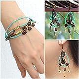 Guatemalan Coffee Bean Bracelet and Earrings Handmade Jewelry Set for Women Bohemian Jewelry - I'nah Vitalis