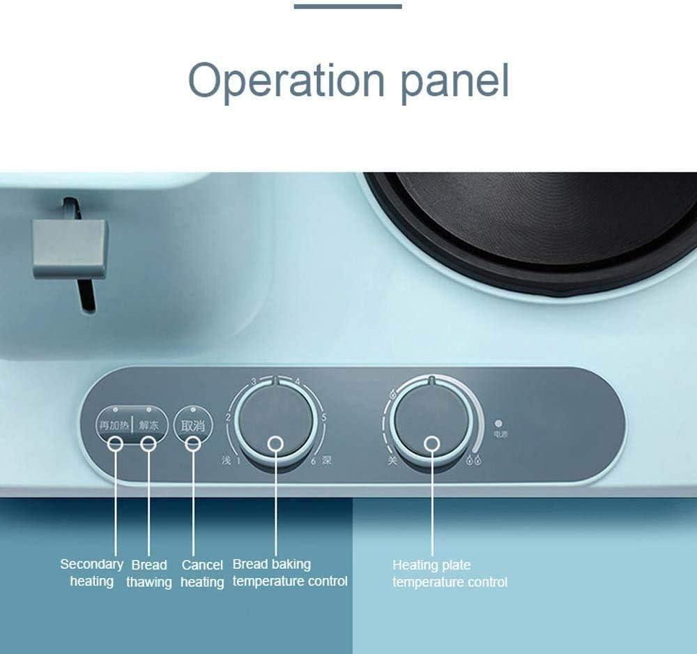 QJY 3-in-1 ontbijtbakmachine desktop broodrooster omelet braadpan elektrische oven eier cooker blauw