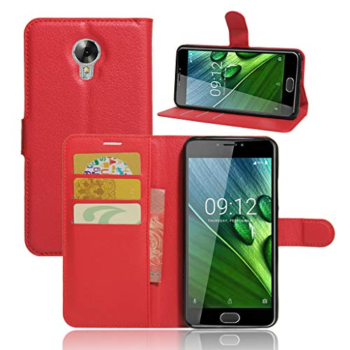 Oujiet-eu CN Hülle für Acer Liquid Z6 Plus hülle Flip Leder + TPU Silikon Fixierh Schutzhülle Case 6