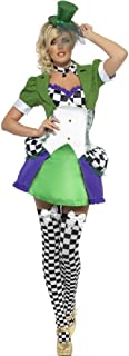 Ladies Sexy Miss Mad Hatter Alice in Wonderland Fever Halloween Fancy Dress Costume Outfit