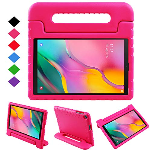 NEWSTYLE Case for Samsung Galaxy Tab A 10.1 2019,Kids Shock Proof Convertible Handle Light Weight Super Protective Stand Cover Case for Galaxy Tab A 10.1 inch SM-T510/SM-T515 2019 Tablet (Rose)