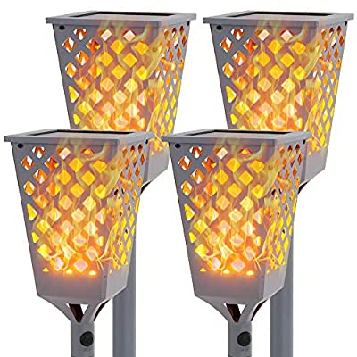 """Walensee Solar Lights Outdoor Upgraded 40"""", 96 LED Waterproof Flickering Flames Torch Lights Outdoor Solar Spotlights Landscape Decoration Lighting Dusk to Dawn Auto On/Off Security Torch Light"""