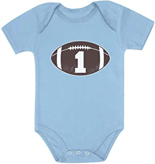 Tstars Gift for 1 Year Old Boy Football Baby Boy 1st Birthday Baby Bodysuit