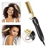 Plancha de pelo multifunción peine de pelo seco y húmedo peine de calentamiento eléctrico