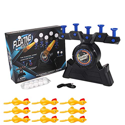 CarJTY Newest Floating Target Shooting Game,Hover Shot Dart Toy Set,Kids Foam Dart Floating Ball Target,Electric Toy for Boys and Girls,Gift Birthday Christmas Halloween Thanksgiving
