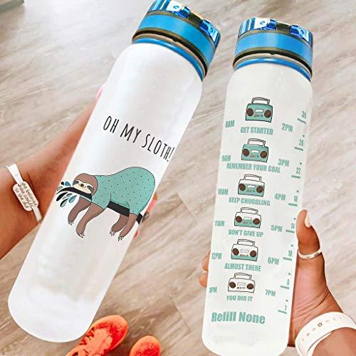 chvcodd Botella de agua deportiva de 947 ml, apta para lavavajillas, botella de camping, botella de deporte, botella de natación, mejor regalo para amado blanco, 1000 ml