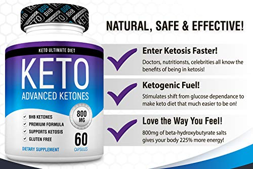 Keto Ultimate Diet - Ketogenic Diet Supplement with Beta Hydroxybutyrate Ketone Salts - Boost Energy and Metabolism - Keto Pills 60Caps 8