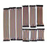 TOAPPNER 360 Pieces Multicolored Breadboard Jumper Wire Dupont Wire Ribbon Cables Kit 30CM 20CM 10CM 40 Pin Male to Female, 40 Pin Male to Male, 40 Pin Female to Female, for Arduino and Raspberry Pi
