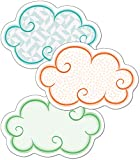 Carson Dellosa – Up and Away Clouds Mini Colorful Cut-Outs, Classroom Décor, 36 Pieces