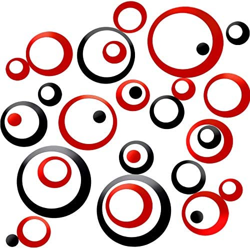 48 Pieces Acrylic Circle Mirror Wall Stickers Round Dots Mirror Surface Wall Decals Modern Art product image