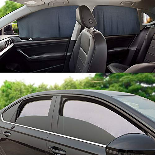 Magnetic Car Sunshade Curtains Universal Privacy Side Window Sunshades Sun Protection Screen for Baby and Kids 2 PCS (Rectangular)