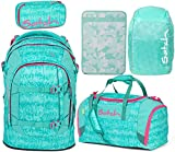 Satch Pack Aloha Mint 5er Set Schulrucksack, Sporttasche, Schlamperbox, Heftebox & Regencape Mint