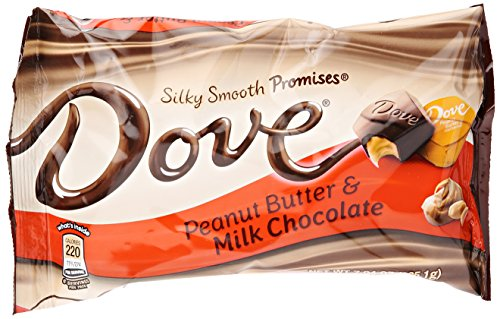 Dove Promises Peanut Butter and Milk Chocolate Candy Bag, 7.94 oz