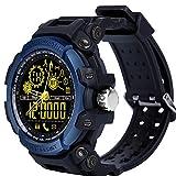 Relojes Inteligentes,LEMFO LF21 50M Cronómetro Impermeable Luz de Fondo Distancia Pista Podómetro Llamada Físico Heavy Duty Fitness Reloj Bluetooth para Hombres