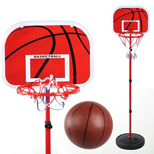 Jingyig Tablero de Tiro de Baloncesto Ajustable en Altura para niños, Soporte de Baloncesto de Montaje, Metal para Juego de Baloncesto Baloncesto Interior