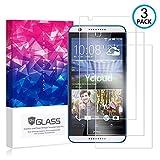 Ycloud [3 Pack] Protector de Pantalla para HTC Desire 820,[9H Dureza/0.3mm],[Alta Definicion] Cristal Vidrio Templado Protector para HTC Desire 820