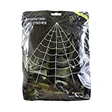 Winchance Halloween Decorations Spider Web with Gutter Hook Set 16.4 Ft Giant Outdoor Party Yard Triangular Spider Web Decor Stretch Cobweb