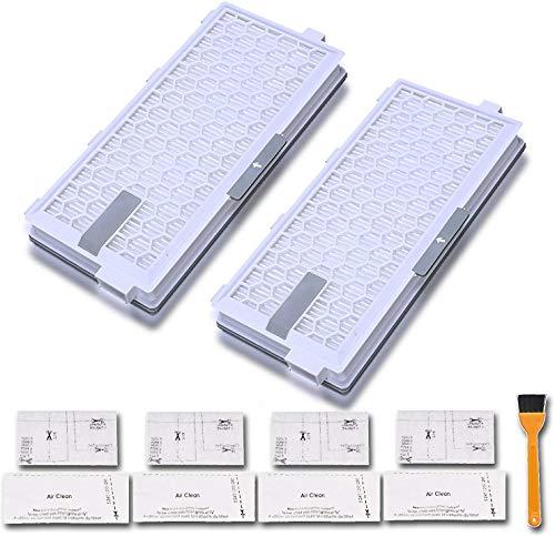 Poweka SF-HA 50 Hepa Airclean Filtres pour Miele S4, S5, S6, S8, S8000, S8999, S6000, S6999, S5000, S5999, S4000, S4999, Complete C2, Complete C3, Compact C1, Compact C2