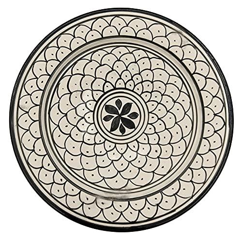 Plato de cerámica terracota pared capacidad étnico marroquí Tunisino 2104211044