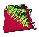 Red Yellow Green Masai Maasai Tie Dye Scarf Sarong Shawl Leso Shuka Beach Wrap Cover Up