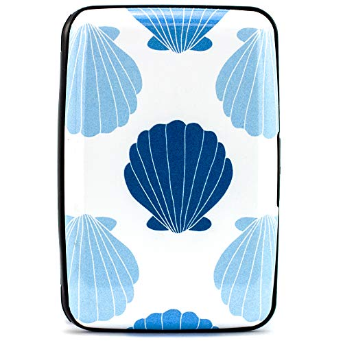 Miami CarryOn RFID Wallet, Secured Aluminum Credit Card Holder - Prevent Electronic RFID Scan Theft (Beach Seashells)