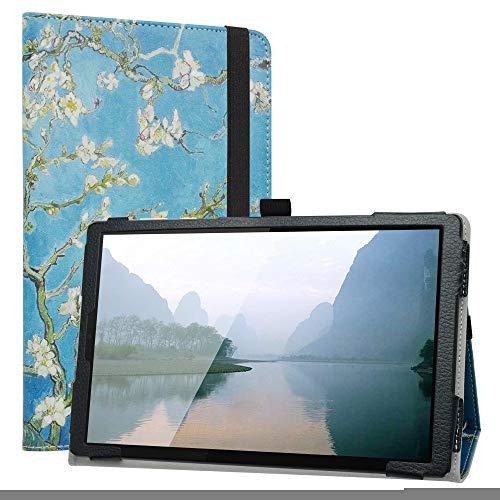 Labanem Funda para Lenovo Tab M10 HD, Slim Fit Carcasa de Cuero Sintético con Función de Soporte Folio Case para 10.1' Lenovo Tab M10 HD (2nd Gen) TB-X306X Tablet - Almond Blossom