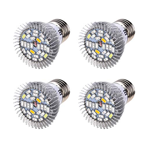 LEDMOMO Lot de 4 ampoules LED pour plantes 10 W 100-240 V 28 LED avec bouchon hélicoïdal