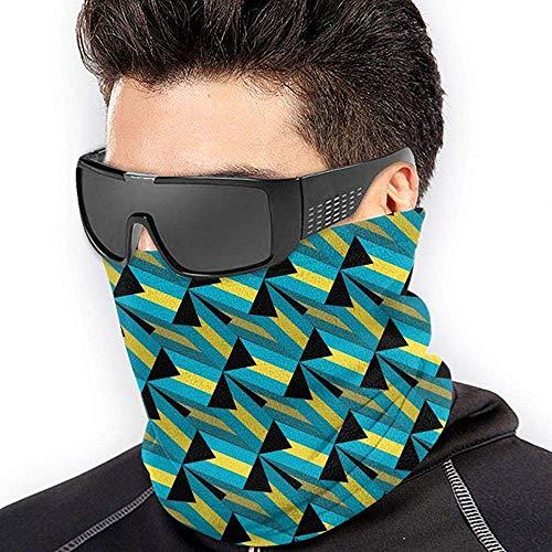 air kong The Bahamas Flag 3D Art Pattern Scarf Neck Gaiter Magic Headband Balaclava Hood Unisex Mask Bandana Winter Warm Headwear