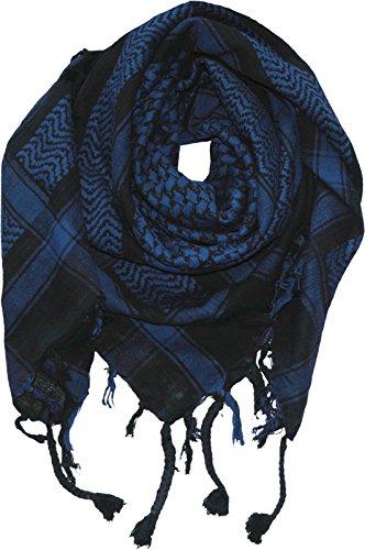 Harrys-Collection PLO Tuch in 20 Farben 100% Baumwolle dick, Farben:schwarz mit blau
