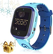Kid Smart Watch Phone, GPS/LBS Waterproof Smartwatch HD Touch Screen SoS Call Camera Games Alarm Clock Anti Lost Smartwatches with Games for Children Students Learning Toys