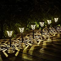 6-Pack Kaixoxin Solar Outdoor Pathway Led Lights