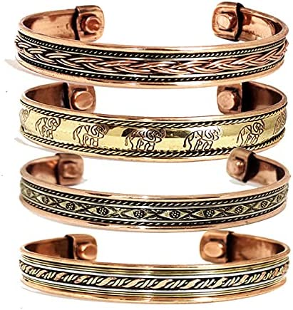 shipfree Sawcart Set Of 4 Copper Pure Therapy Magnetic Ef Bracelet Max 57% OFF