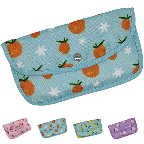 Moogambi Maskenhalter waschbar atmungsaktiv Stoff Aufbewahrungstasche Maskenhalter FFP2 chirurgische Aufbewahrungsbox (22 x 1 x 12,5 cm) (Orangen)