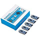 KOOKYE 5PCS Nano V3.0 ATMEGA328P Module CH340C 5V 16M Mini USB Micro-Controller Board for Arduino(Nano5)