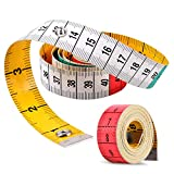 Measuring Tape, Tape Measure with Snap Closure, Tape Measure for Body, Double Scale Measurement Tape for Sewing Measuring Tape Double Scale Colorful 60 in /150 cm