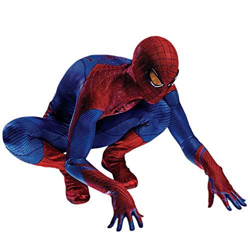 Traje de Hombre Araña, The Amazing Spider-Man Ropa Cosplay, Traje del Vestido de Halloween de los Niños Fantasía Hijos Adultos Siameses Medias Mascarada Puntales