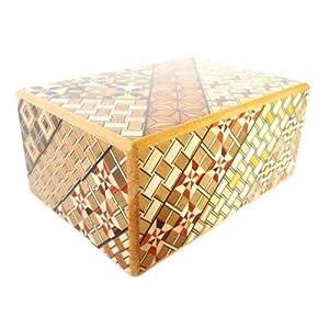 Bene Gifts Japanese Yosegi Puzzle Box 4 Sun 10 Moves