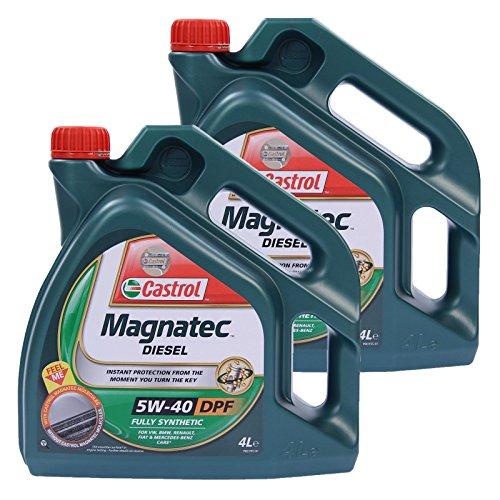 Aceite para motor diésel Castrol Magnatec 5W-40 DPF 31783296, dos de 4 l = 8 litros
